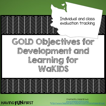 Checklists for WaKids GOLD Objectives for Development and Learning