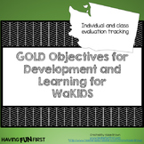 Checklists for WaKids GOLD Objectives for Development and Learning EDITABLE
