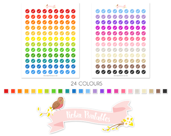 Checkmark Printable Planner Stickers