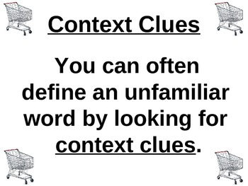 """""""Checkouts"""" Context Clues PowerPoint"""