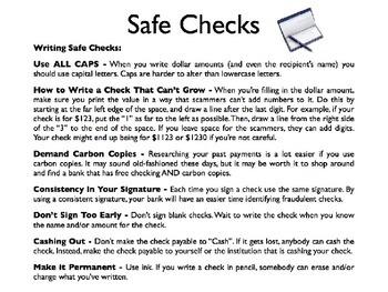 Checks & Checking Accounts PowerPoint