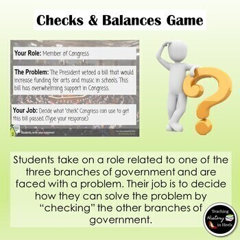 Checks and Balances: A Game on Google Slides with Pear Deck Features