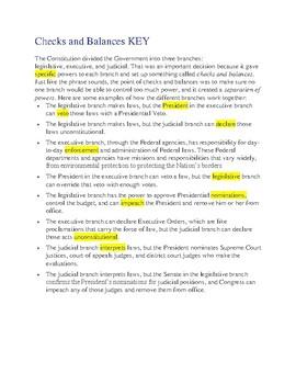 Checks and Balances -- CLOZE Reading