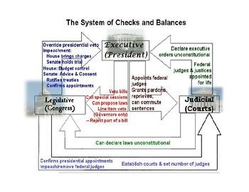 Checks and Balances Chart