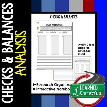 Checks and Balances Graphic Organizer