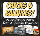 Checks and Balances Graphic Organizer, Printable Visual Summary & Powerpoint