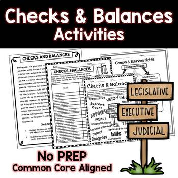 Checks and Balances Quick Activity Chart