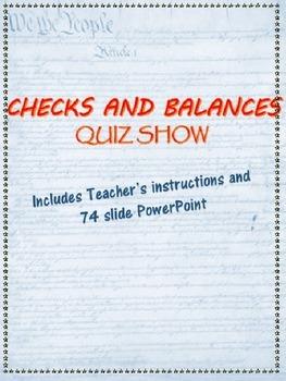 Checks and Balances Quiz Show PowerPoint