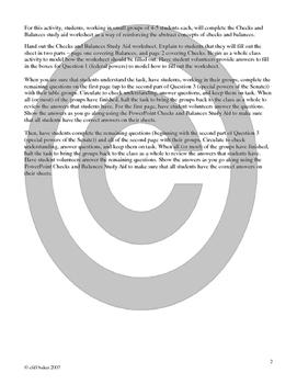Checks and Balances study aid/ interactive notebook