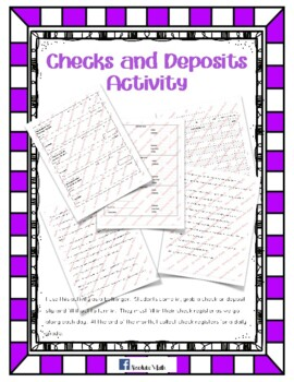Checks and Deposits Activity