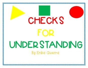 Checks for Understanding Kit