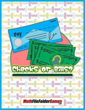 Checks or Bills {Integer Activity}
