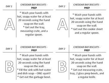 Cheddar Bay Biscuit Lab Task Cards