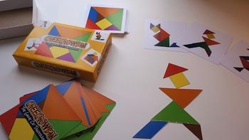 Cheechowban   The Game of Tangrams Classroom pack (24 Cutout Tangrams)