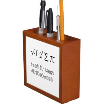 Cheeky Math Teacher Desk Organizer, 2 sided with jokes