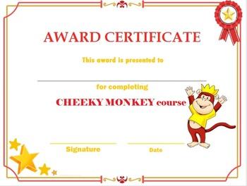 Cheeky Monkey diploma