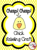 Cheep, Cheep Chick Labeling Craft