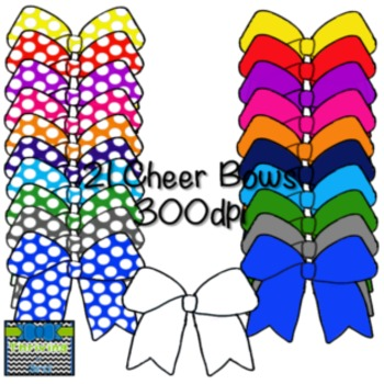 Cheer Bow Clipart {Solid and Polka Dotted}