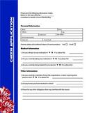Cheer Coach Cheerleader Application Blue