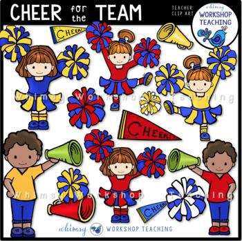 Cheer For The Team Clip Art - Whimsy Workshop Teaching
