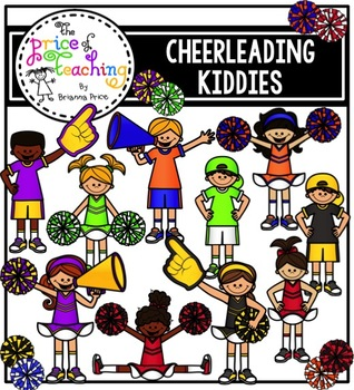 Cheer Kiddies Clipart Set