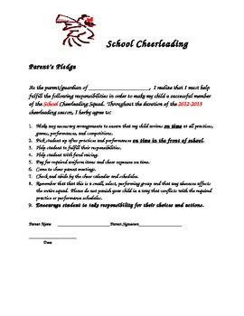 Cheer Parent's Pledge