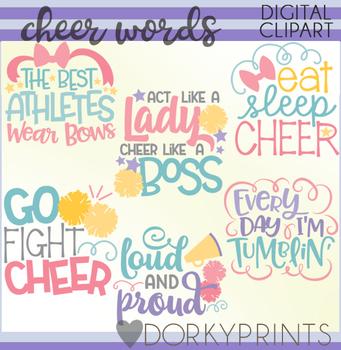 Cheer Word Art Clip Art