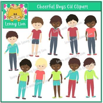 Cheerful Boys Clipart