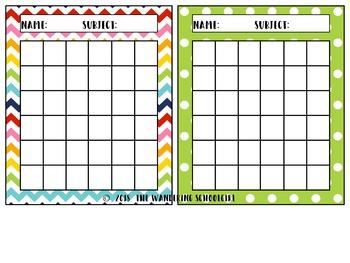 Cheerful Bright Incentive Sticker Charts