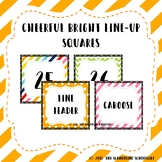 Cheerful Bright Line-Up Squares