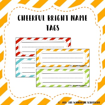 Cheerful Bright Name Tags