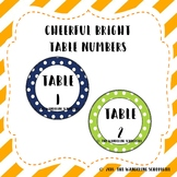 Cheerful Bright Table Numbers