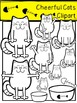 Cheerful Cats Clipart
