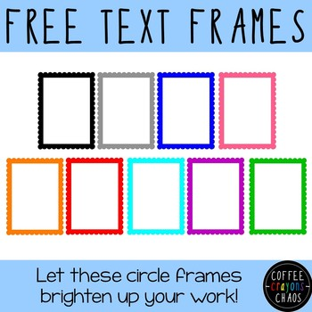 Cheerful Circle Text Frames