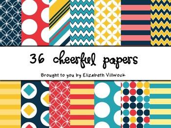 Cheerful Digital Papers