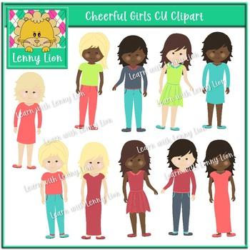 Cheerful Girls Clipart