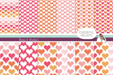 Cheerful Heart Collection of 12 Printable Heart Patterns