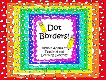 Cheerful Rainbow Polka Dot Borders Bundle