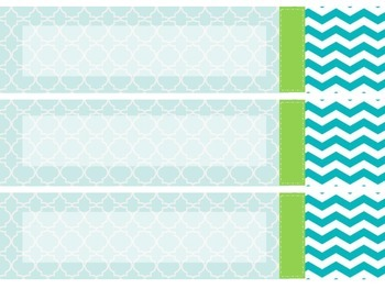 Cheerful Serenity Bin Labels includes BLANK labels
