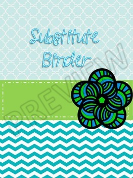 Cheerful Serenity Substitute Binder PDF with 2 Completely Editable Pages