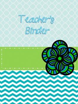 Cheerful Serenity Teacher's Ultimate Binder w/Calander 100