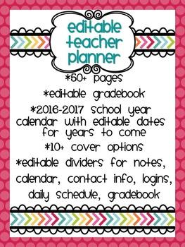 Cheerful Teacher Planner or Binder {EDITABLE}