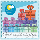 Cheerfully Colourful Gifts Clip Art Set