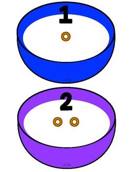 Cheerios Counting Bowls