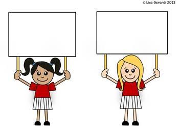 Cheerleader Clip Art - Multicultural Kids