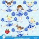 Cheerleader Clipart, Cheerleaders clipart in Blue, Sports Clipart, AMB-881
