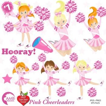 cheerleader clipart cheerleaders in pink clip art sports figures rh teacherspayteachers com cheerleaders clip art free cheerleader clipart outlines