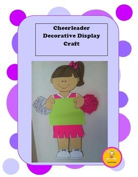 Cheerleader -Decorative Display/ Craft