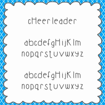 Cheerleader Font {personal and commercial use; no license needed}