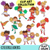 Cheerleader Kids Clip Art Collection (FLAT COLOR ONLY)